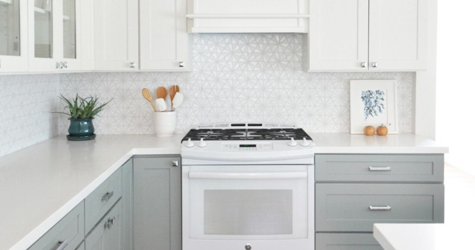 kitchen cabinet ideas with white appliances photo - 2