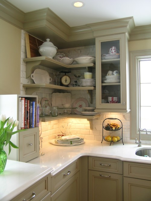 kitchen cabinet shelf ideas photo - 1