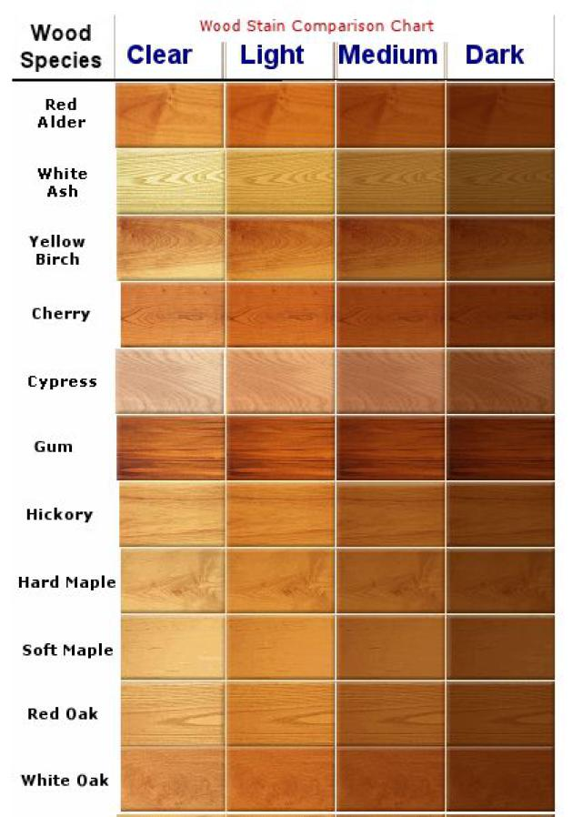 kitchen cabinet stain color chart photo - 3