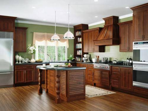 kitchen cabinet wood stain colors photo - 9
