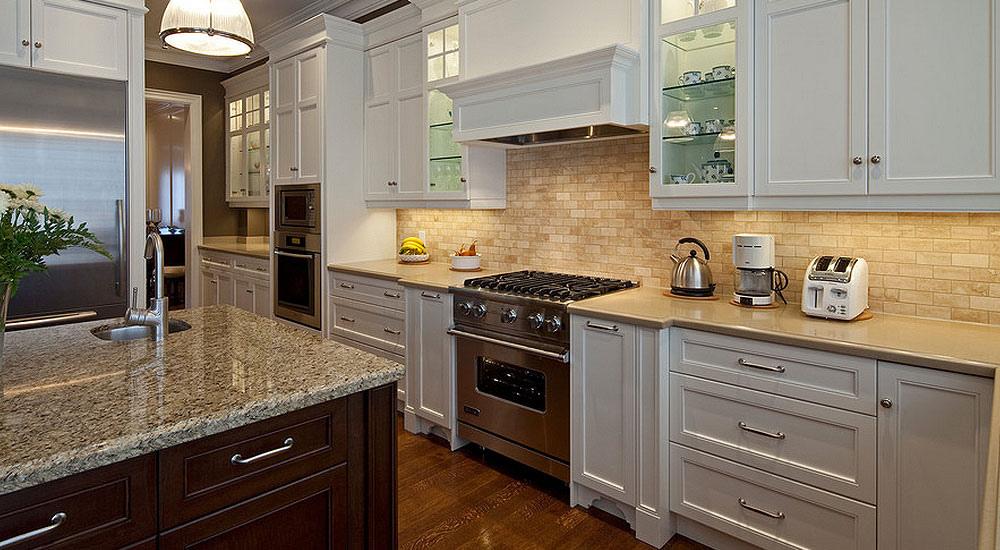 kitchen cabinets backsplash ideas photo - 1