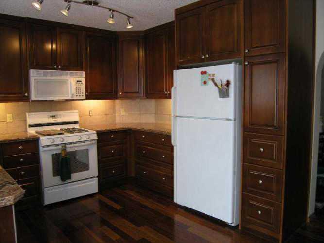 kitchen cabinets cherry stain photo - 2