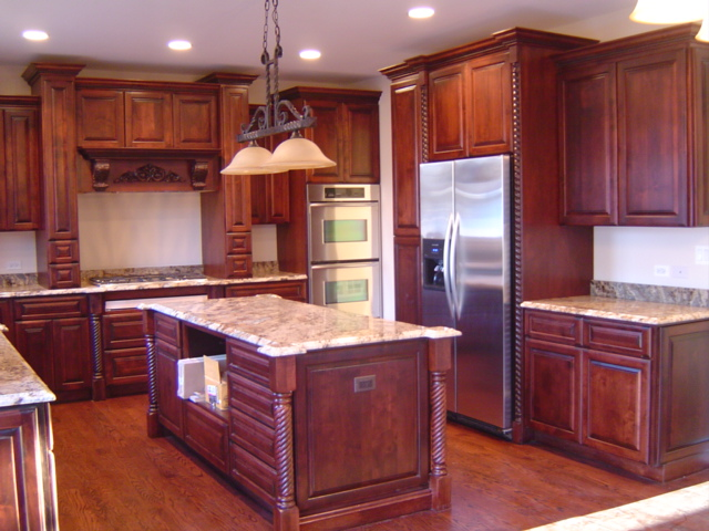 kitchen cabinets cherry stain photo - 6