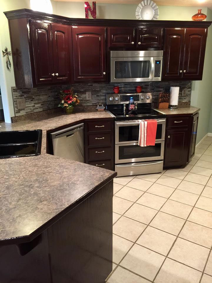 kitchen cabinets cherry stain photo - 7