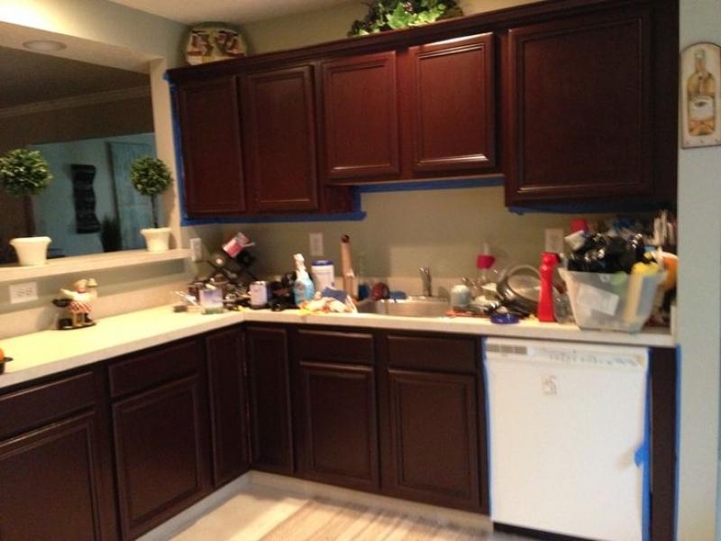 kitchen cabinets cherry stain photo - 9