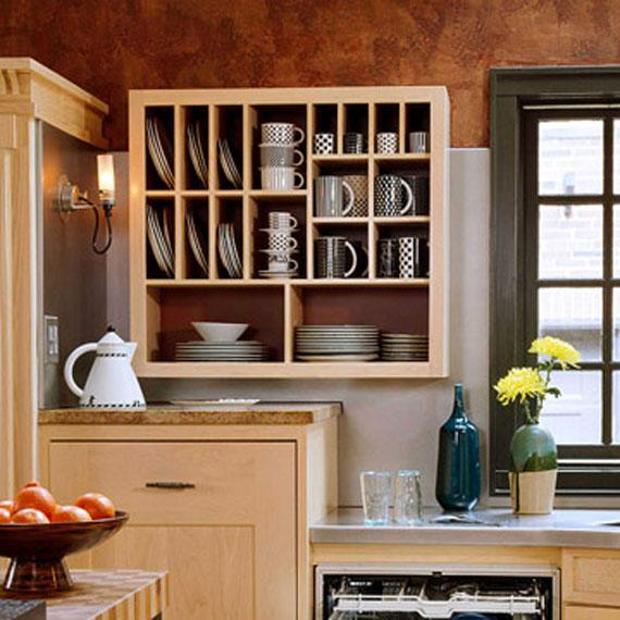 kitchen cabinets shelves ideas photo - 1