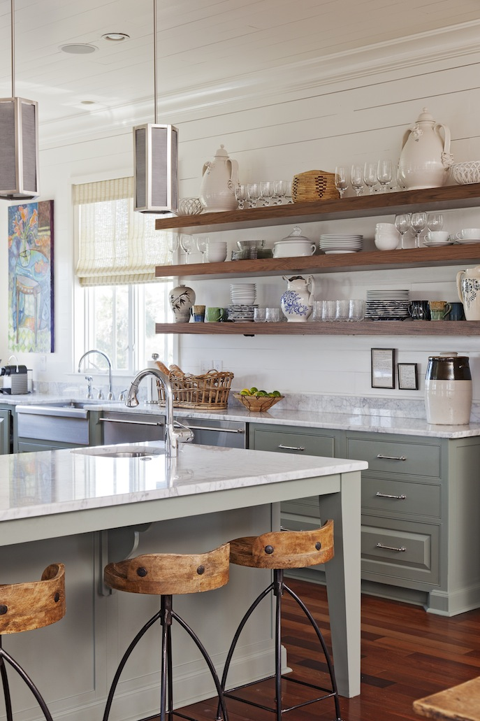 kitchen cabinets shelves ideas photo - 10
