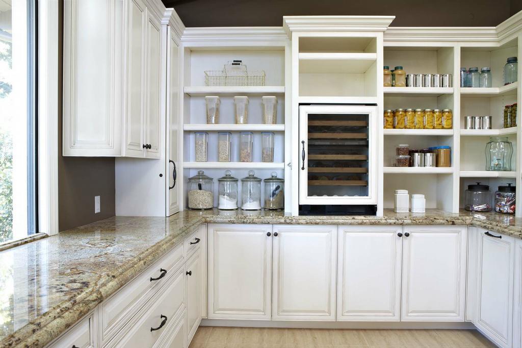 kitchen cabinets shelves ideas photo - 3