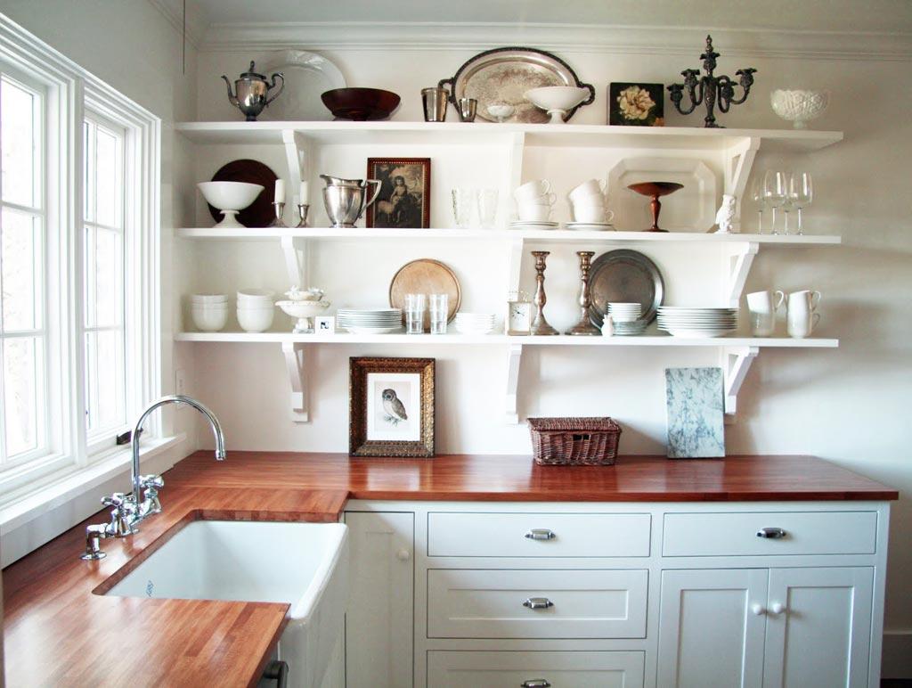 kitchen cabinets shelves ideas photo - 4