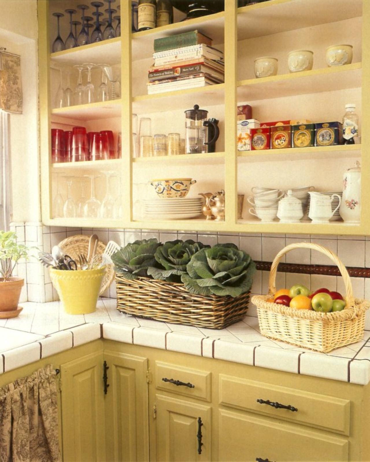 kitchen cabinets shelves ideas photo - 5