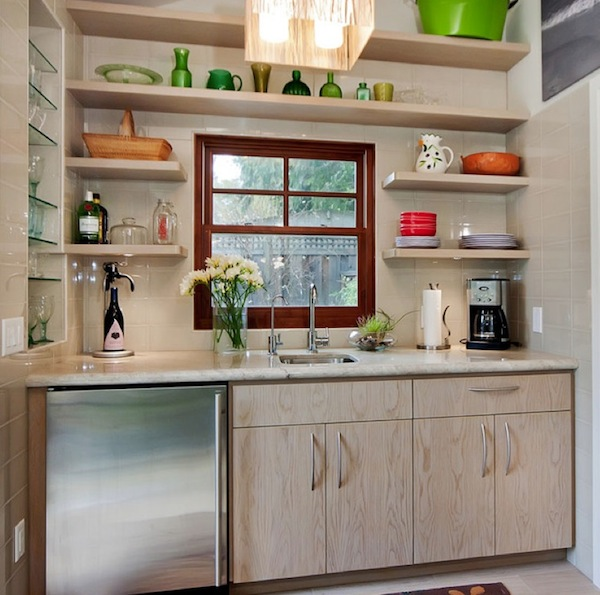 kitchen cabinets shelves ideas photo - 6