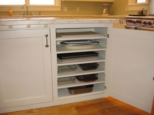 kitchen cabinets shelves ideas photo - 7