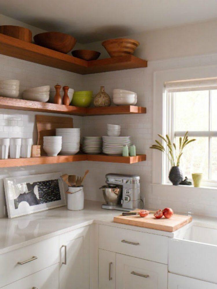 kitchen cabinets shelves ideas photo - 8