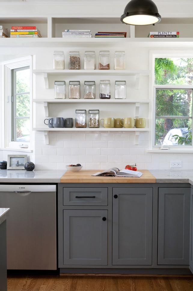 kitchen cabinets shelves ideas photo - 9