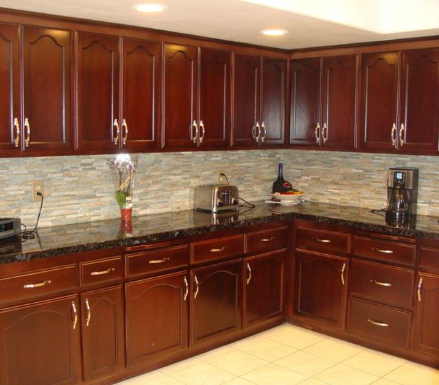 kitchen cabinets stain ideas photo - 2
