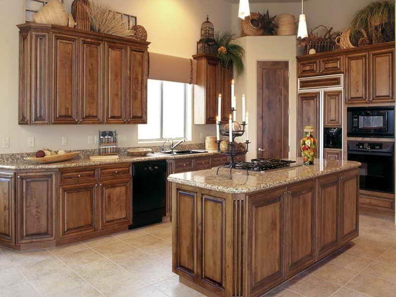 kitchen cabinets stain ideas photo - 4