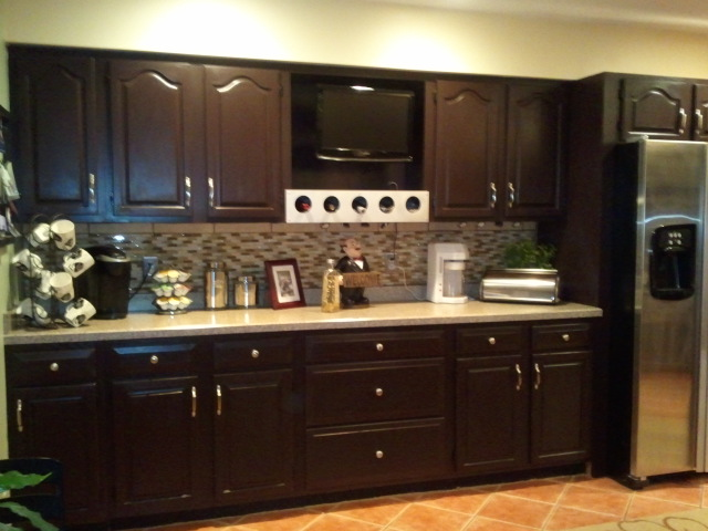 kitchen cabinets stain ideas photo - 5