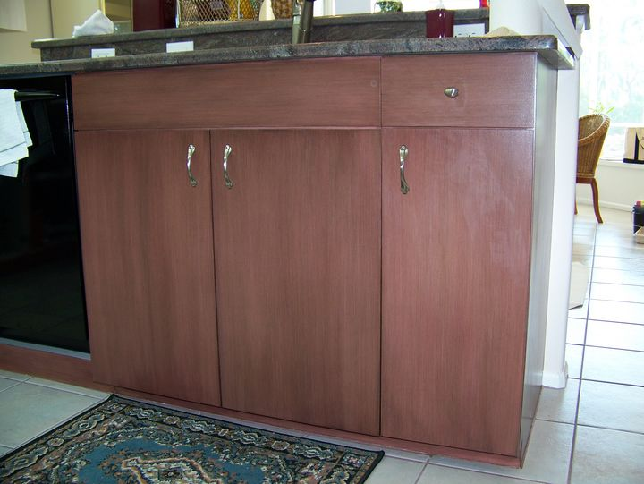 kitchen cabinets white formica photo - 8