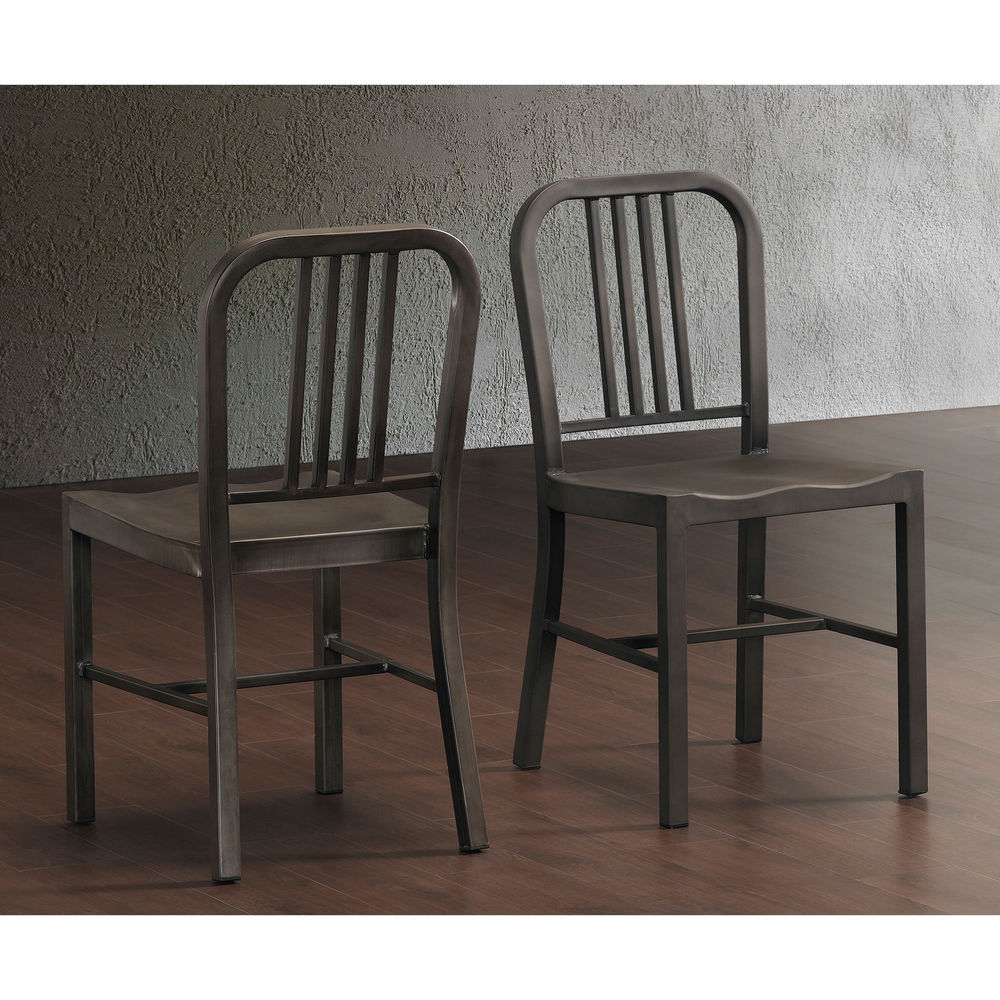 kitchen chairs metal photo - 7