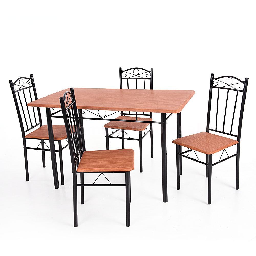 kitchen chairs metal frame photo - 10