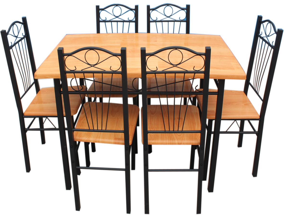 kitchen chairs metal frame photo - 5