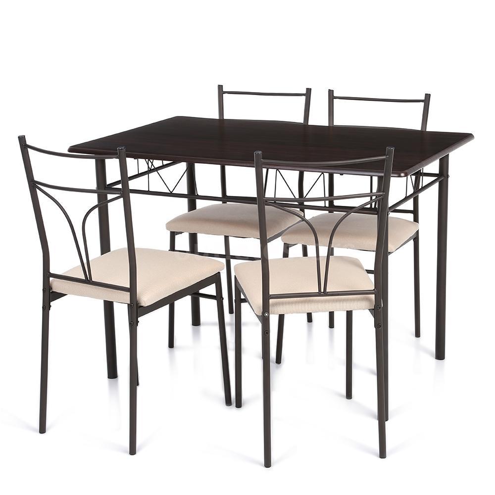 kitchen chairs metal frame photo - 8