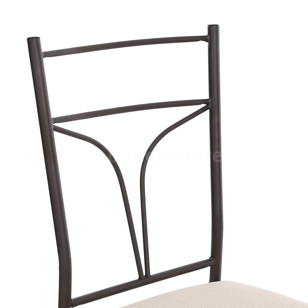 kitchen chairs metal frame photo - 9