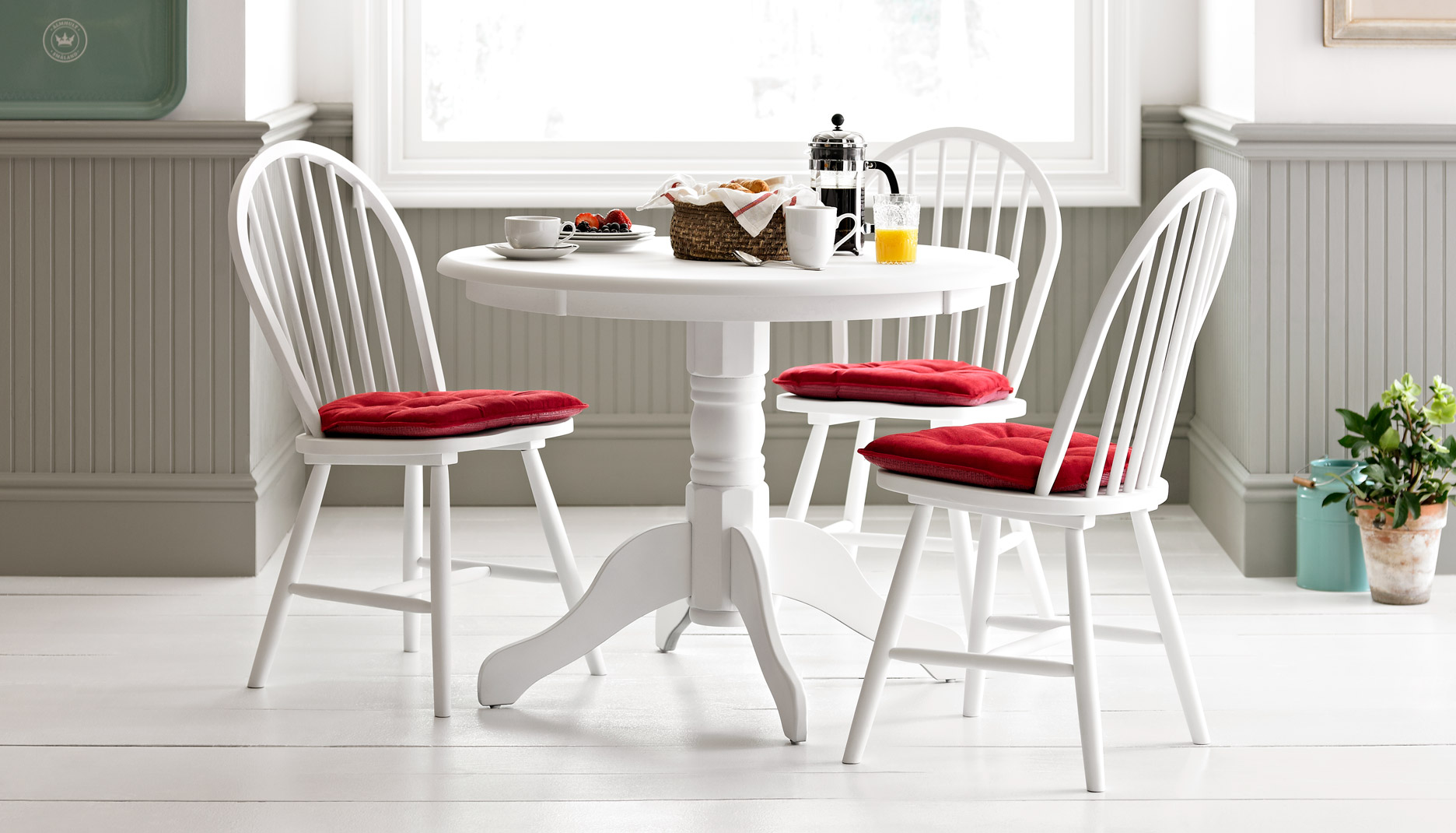 kitchen chairs white photo - 6