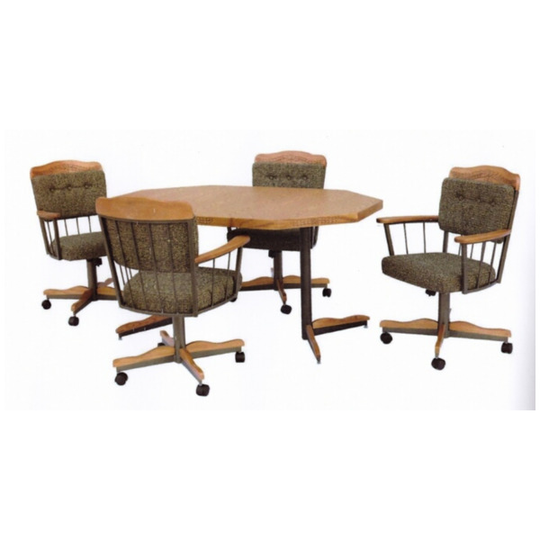 kitchen chairs with casters photo - 10