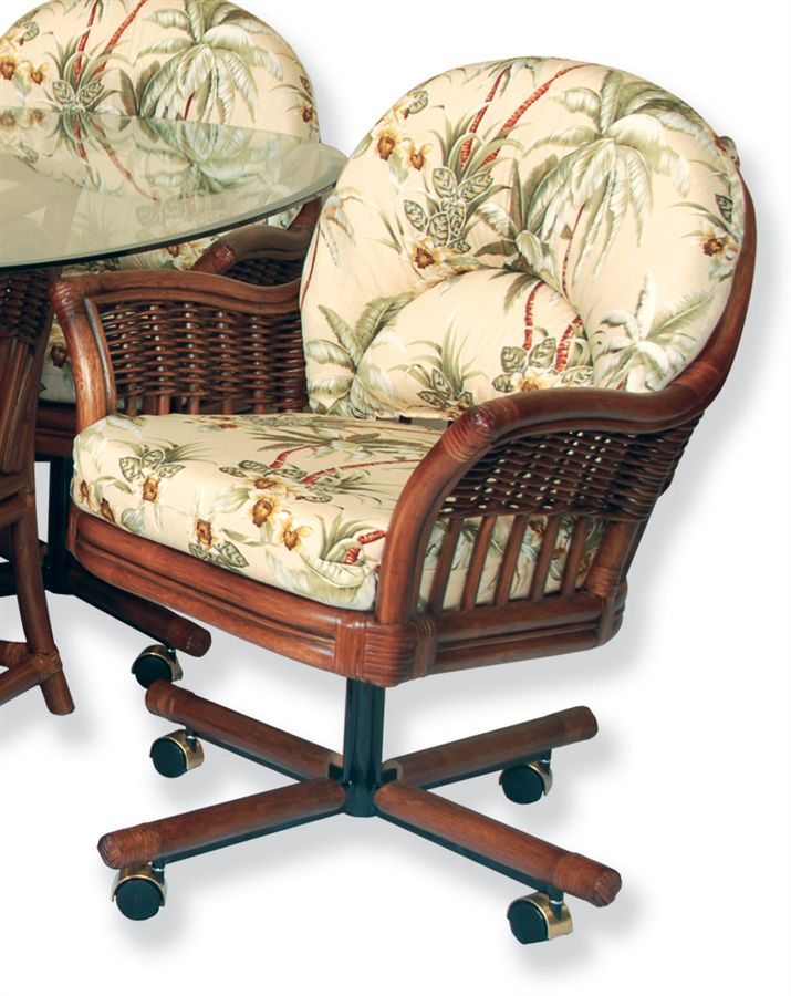 kitchen chairs with casters photo - 3