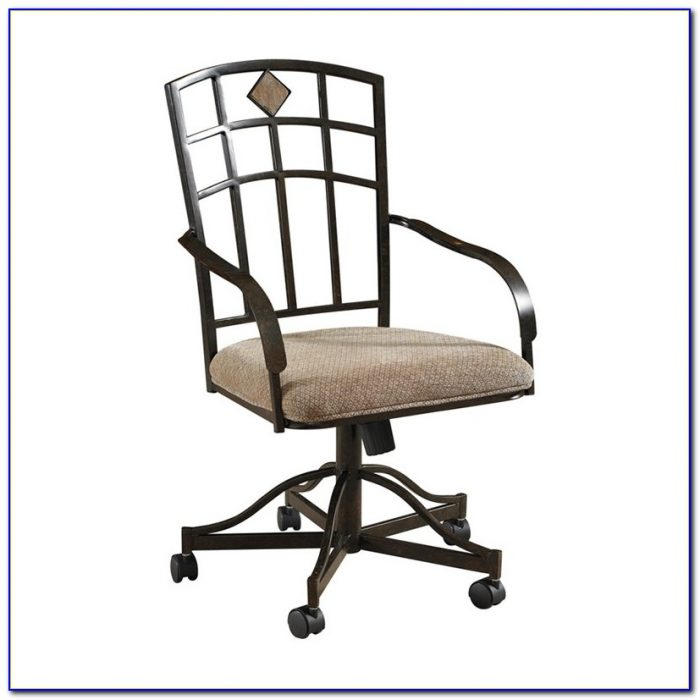 kitchen chairs with casters photo - 7