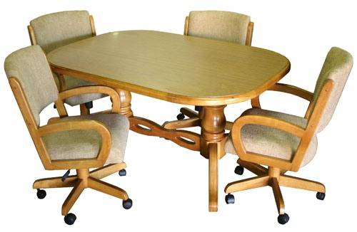 kitchen chairs with casters photo - 8
