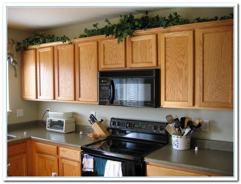 kitchen decor ideas cabinet tops photo - 10