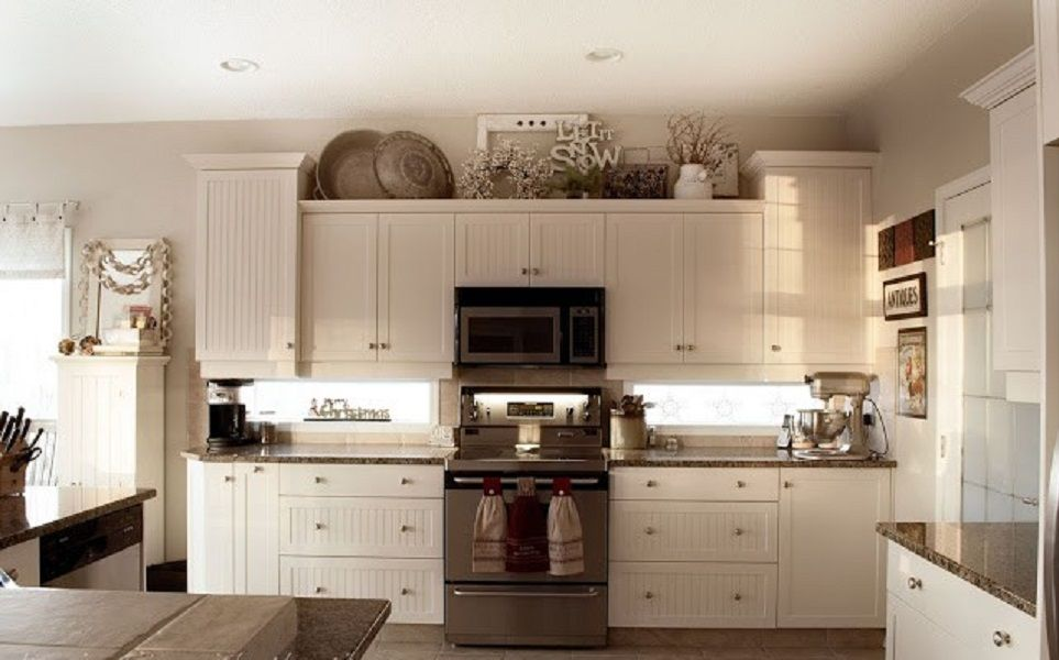 kitchen decor ideas cabinet tops photo - 2