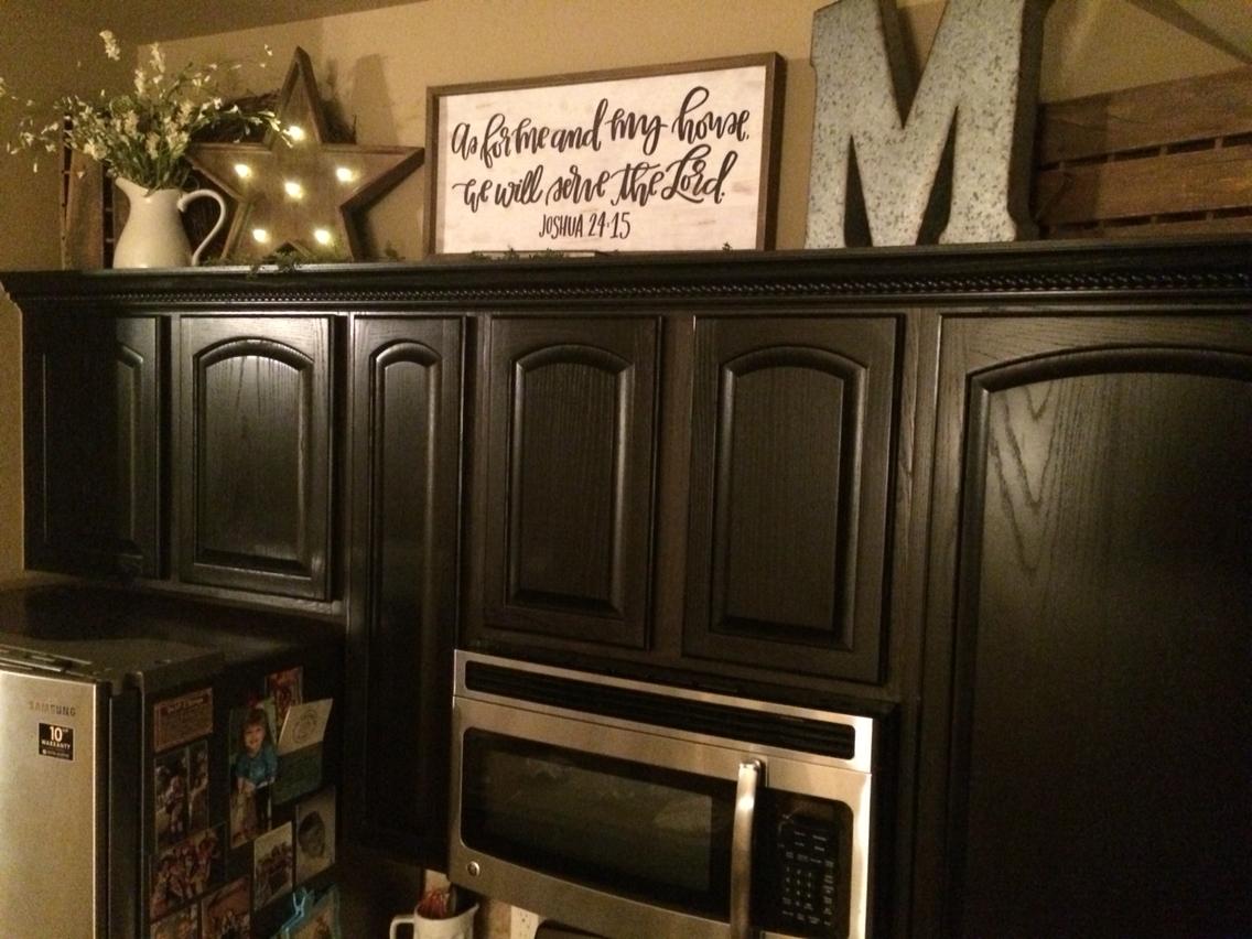 kitchen decor ideas cabinet tops photo - 8