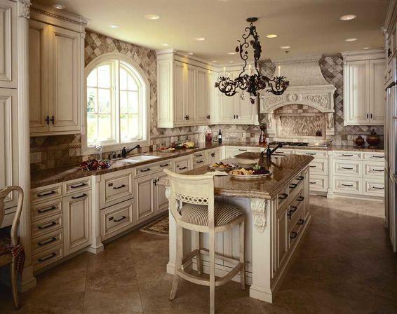 kitchen design ideas antique white photo - 2