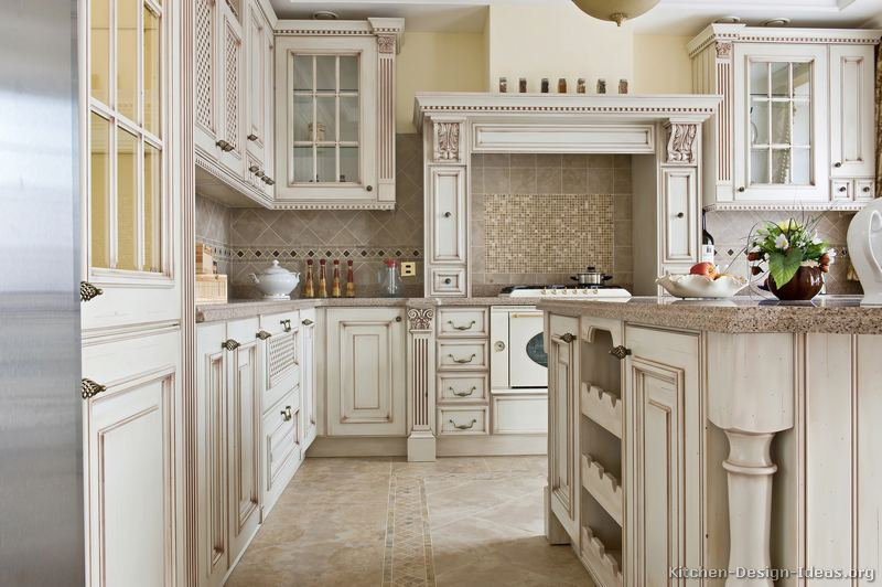 kitchen design ideas antique white photo - 4