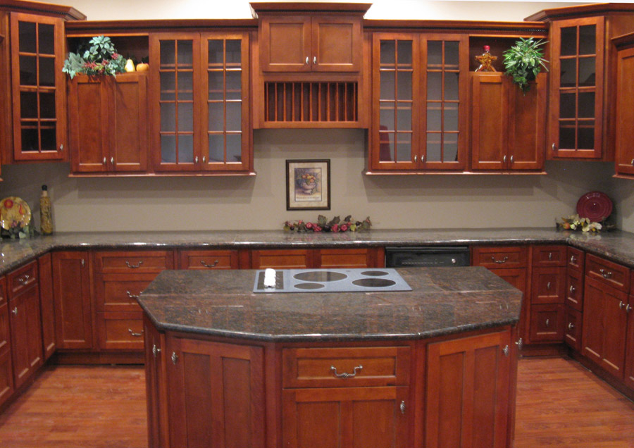 Kitchen Design Ideas Cherry Cabinets Photo 5