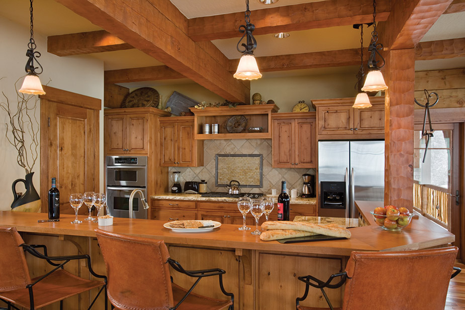 kitchen design ideas for log homes photo - 1