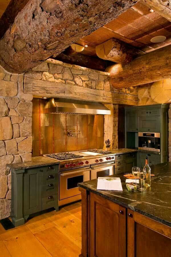 kitchen design ideas for log homes photo - 10