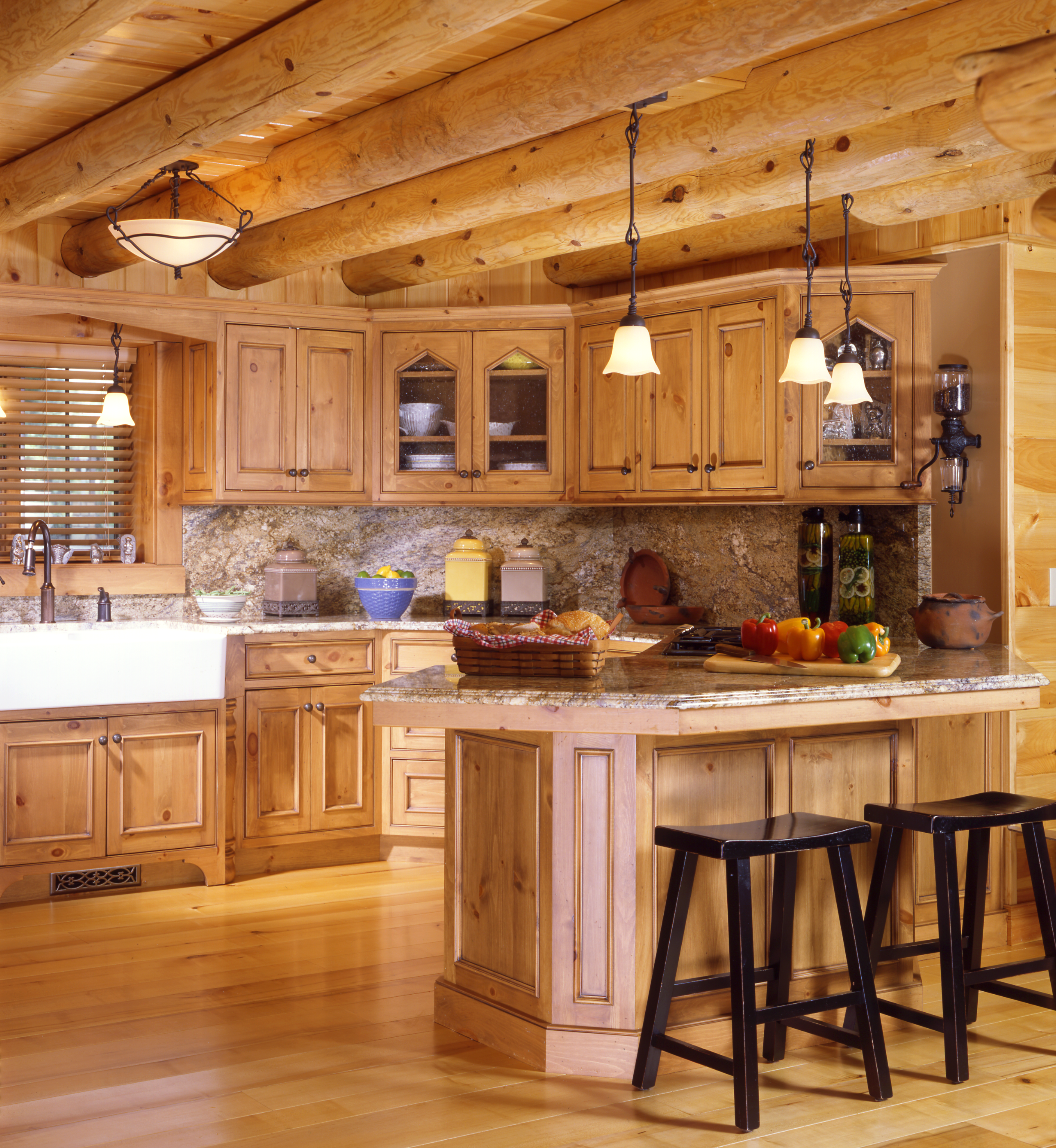 kitchen design ideas for log homes photo - 4
