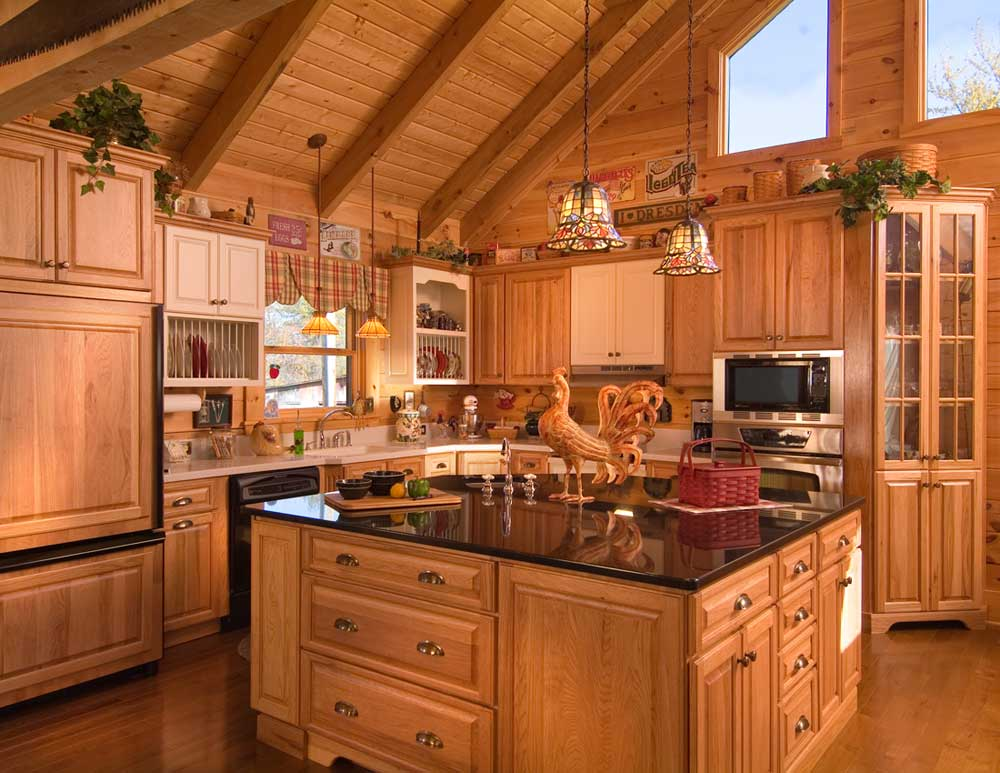 kitchen design ideas for log homes photo - 5