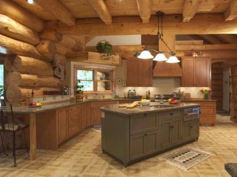 kitchen design ideas for log homes photo - 6