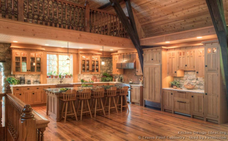 kitchen design ideas for log homes photo - 7