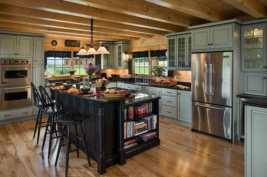 kitchen design ideas for log homes photo - 8