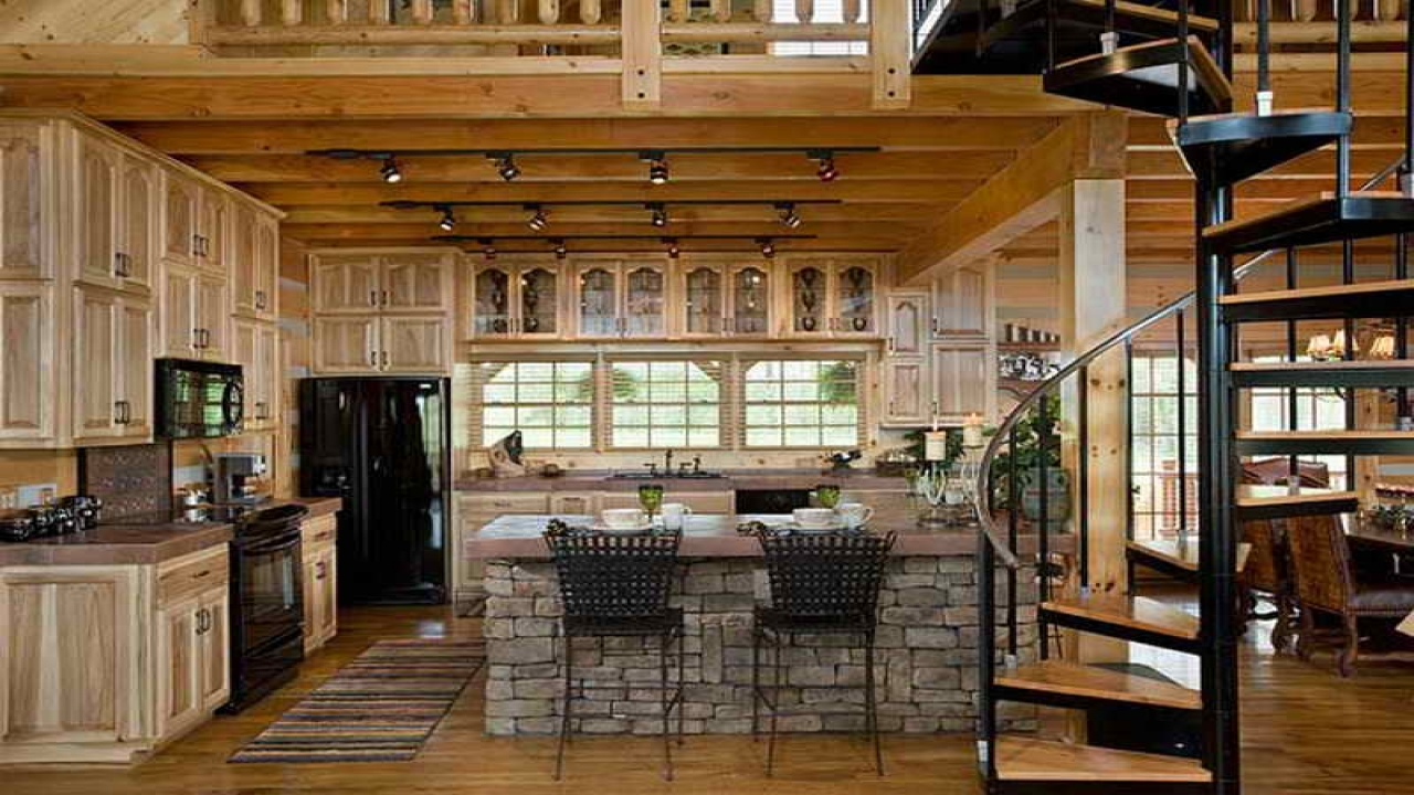 kitchen design ideas for log homes photo - 9