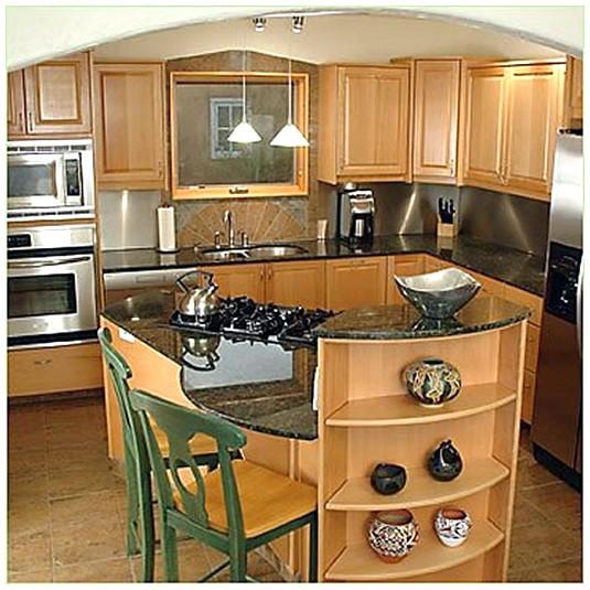 kitchen design ideas for small kitchens island photo - 1