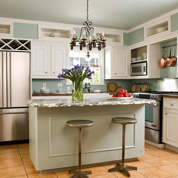 kitchen design ideas for small kitchens island photo - 3