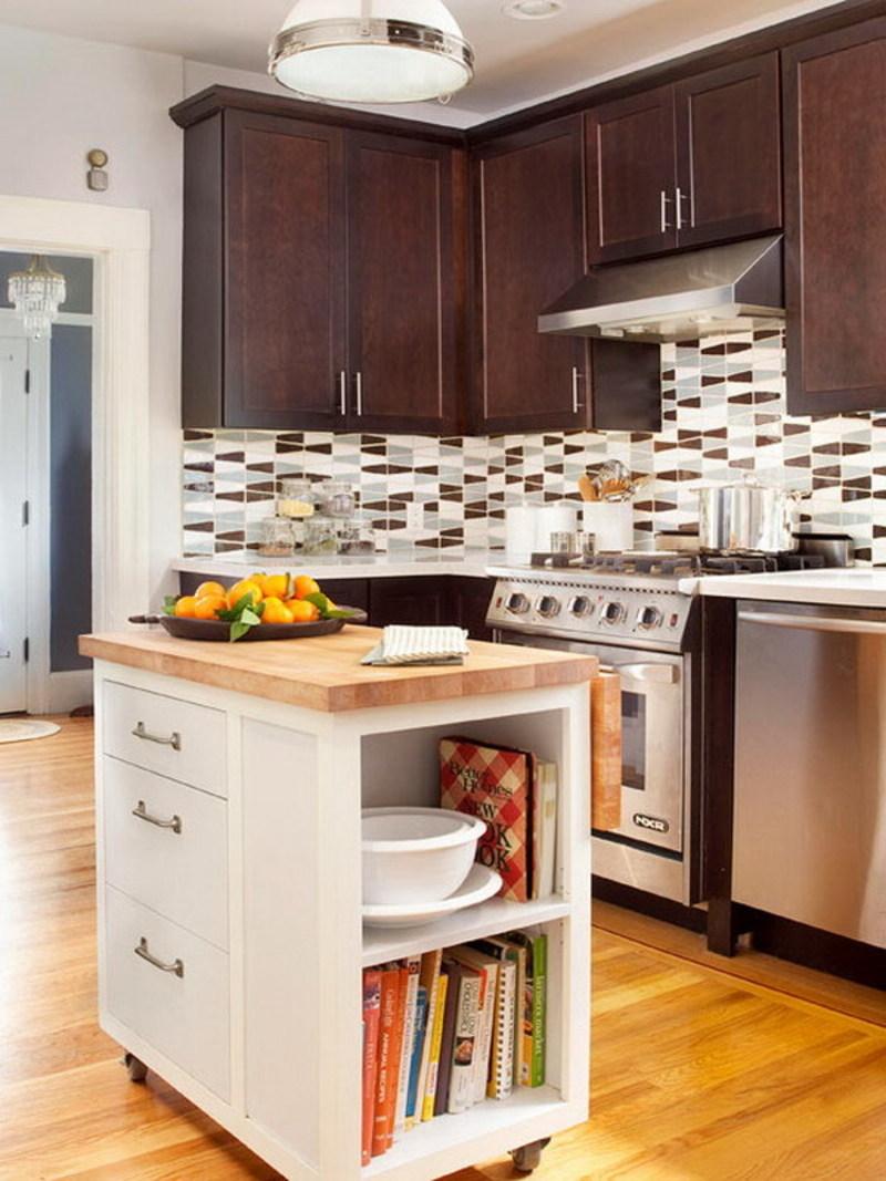 kitchen design ideas for small kitchens island photo - 5