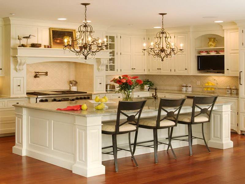 kitchen design ideas for small kitchens island photo - 8